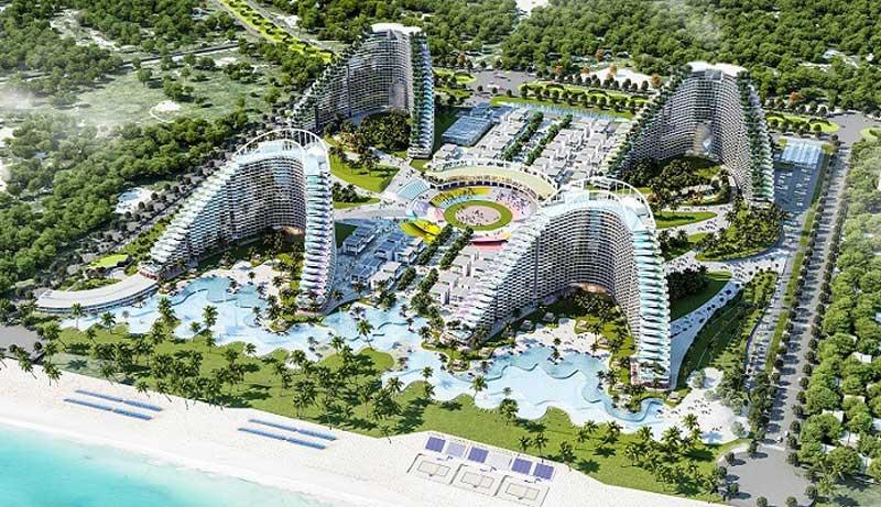 Phối cảnh dự án condotel The Arena Cam Ranh Nha Trang